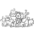 Cartoon Group of Dogs for Coloring vector image vector image