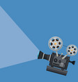 color background with movie projector vector image vector image