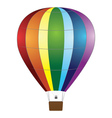 Colorful air balloon vector image