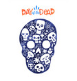 day dead sugar skull mexico decoration card vector image vector image