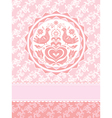 decorative greeting card vector image vector image
