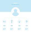 Design Timeline Infographic blue color vector image
