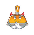 devil dustpan character cartoon style vector image vector image