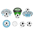 European football soccer labels emblems vector image vector image