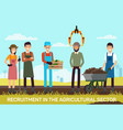 Flat banner recruitment in agricultural sector