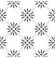 Floral square pattern vector image