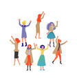 group of feminist activists vector image