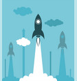 group rocket launch vector image vector image