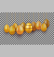 hanging gold easter eggs set 3d realistic egg vector image vector image