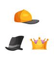 headgear and cap symbol vector image