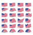 independence day flag set united states vector image vector image