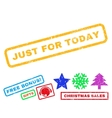 Just For Today Rubber Stamp vector image vector image
