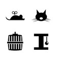 keeping cat simple related icons vector image vector image
