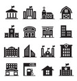 landmark building icons set vector image vector image
