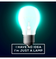Light bulb with innovation idea concept vector image vector image