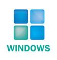 logo on the theme of windows doors vector image vector image