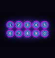 lottery balls neon signs lotto design vector image vector image