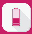 low battery icon flat vector image