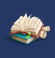 magic books spreadsheet vector image vector image