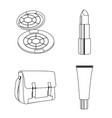 make up icon set design vector image