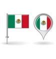 Mexican pin icon and map pointer flag vector image vector image