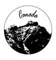 miss cascade mountain with canada text vector image vector image