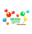 molecule structure icon dna symbol vector image