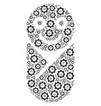 newborn composition of cog vector image