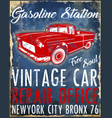 old american car vintage classic retro man t vector image vector image