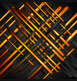 orange and black glossy stripes abstract vector image