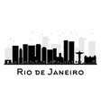 Rio de Janeiro silhouette vector image vector image