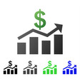 sales chart flat gradient icon vector image vector image