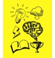 Scetch Hand Drawn New Idea in Notebook vector image