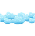 seamless pattern with blue clouds vector image vector image