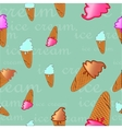 seamless texture of ice cream dessert vector image vector image