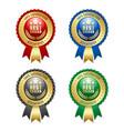 set best seller rosettes on white background vector image vector image