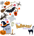side vertical border with halloween icons vector image vector image