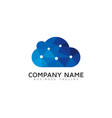 tech cloud logo icon design vector image