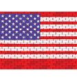 usa brick wall vector image vector image