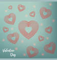 valentines day background red hearts with text vector image vector image