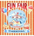 Vintage carnival poster template vector image vector image