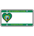 washington state license plate vector image vector image
