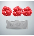 white textile banner mock-up vector image vector image