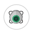 Gas mask isolated render on a white background vector image