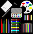 Set of drawing tools vector image