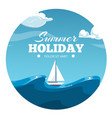 summer holiday postcard design sea vector image