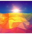 Abstract triangles polygonal surface with sunlight vector image