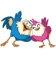 loving birds vector image