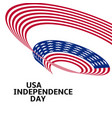 happy independence day blue and red color curly vector image