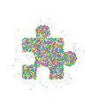 puzzle icon abstract vector image